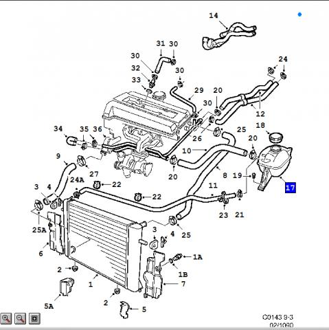 throttle body coolant hose part saabcentral forums click image for larger version coolingsystem jpg views 4636 size 40 9