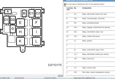 fuel pump relay location - saabcentral forums, Wiring diagram