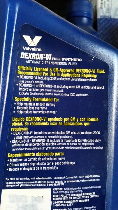 Transmission Fluid, Dexron VI? | SaabCentral Forums