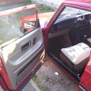 Passenger Side Door. I just fixed the central locking. Turns out that someone had previously replaced the door and simply not reconnected it :S